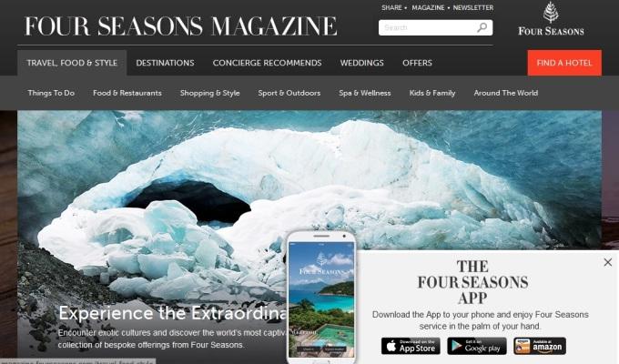 ハイクラス向けウェブマガジンに月間来訪者5万人。ニッチを活かした「Four Seasons Hotel & Resorts 」【コンテンツマーケティング・ケーススタディ10】